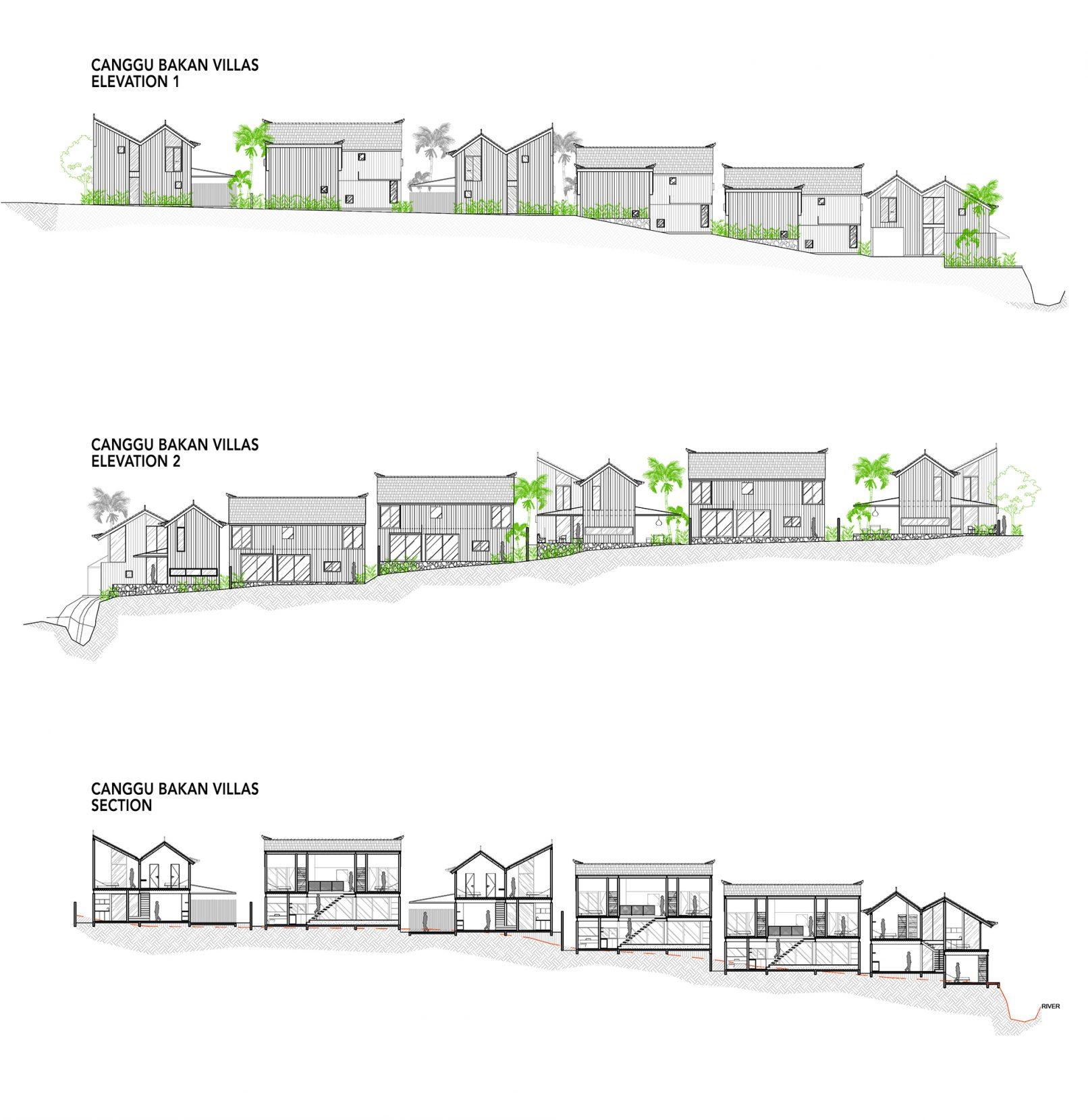 Bakan Villas - Section-Elevation